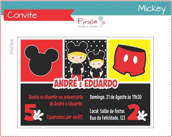 Convite Mickey http://www.elo7.com.br/convite-digital-mickey-mouse/dp/43F8DB