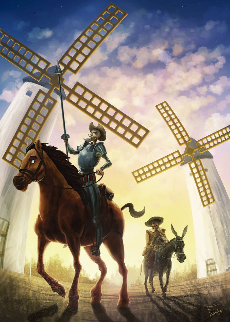 Today Cervantes died 400 years ago. In honour of him one of my favourite Don Quixote wallpapers