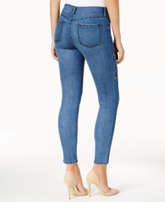Buffalo David Bitton Faith Embroidered Skinny Jeans - Blue 32