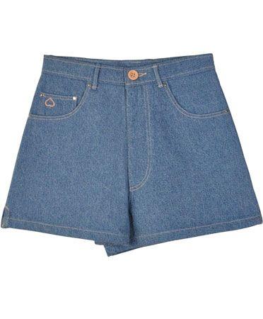 Samantha Peet Ultra Denim Peach Shorts. Shop this and 29 other denim pieces that are Coachella-ready.