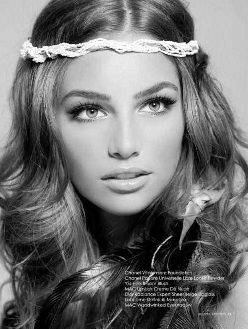 True Beauty. love the idea of a headband or head wrap for a boho bride! #SummerWedding #Bohemian