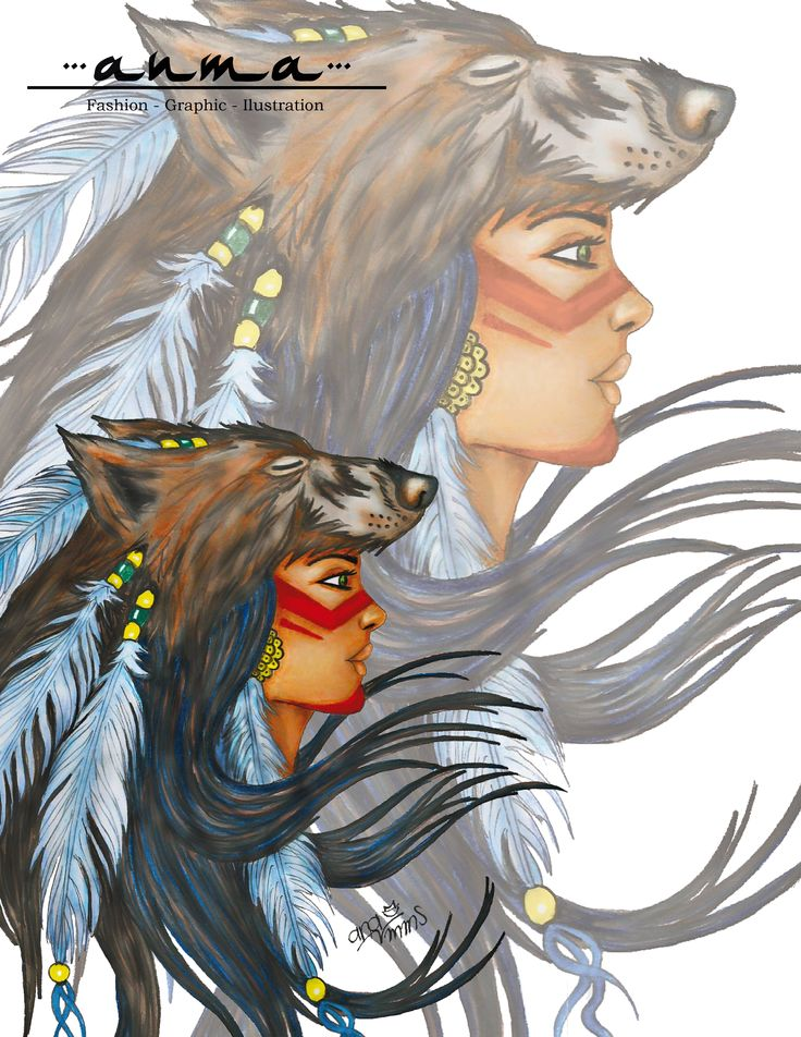 Nativa Americana (El Lobo)