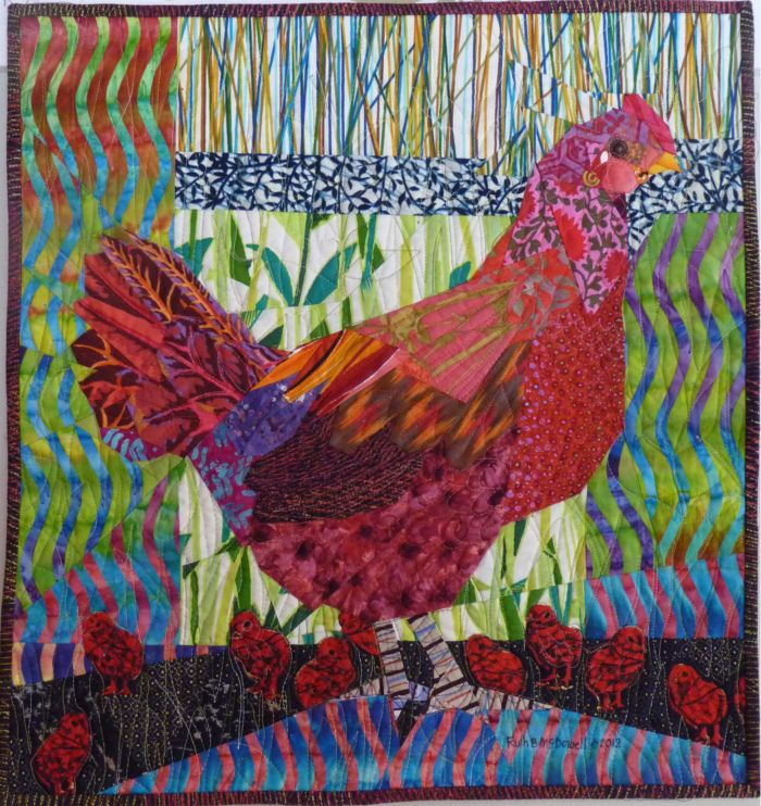 Red Hen and Chicks Ruth McDowell