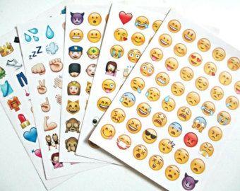 Emoji autocollants Planner stickers iPhone par PetitBout2France