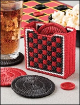 plastic Canvas costers checkers
