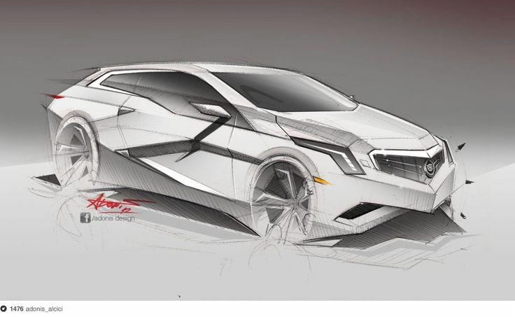1hour Cadillac sketch + photoshop - http://www.facebook.com/adonis.designer