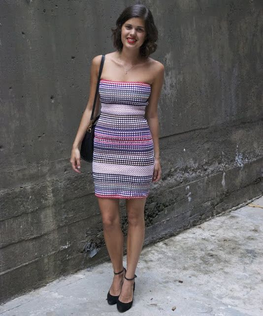 DIY Multi Colour Bodycon Dress from dollar store rugs « a pair & a spare