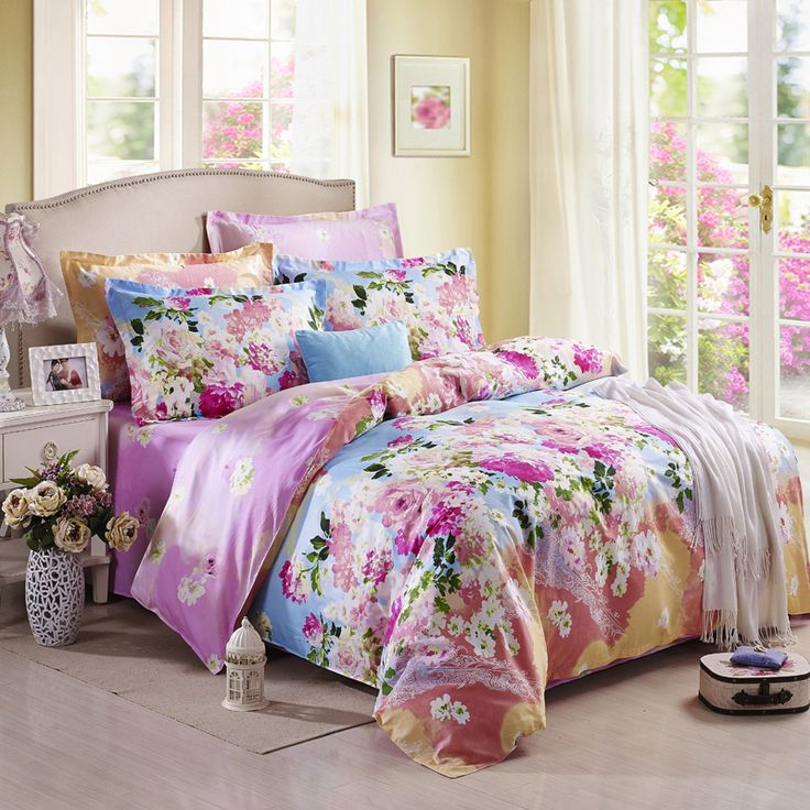 Flower Sea Purple Modern Bedding 2014 Duvet Cover Set