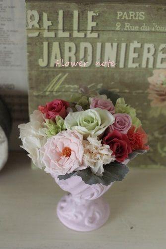 【今日の贈花】感謝の気持ちは爽やかなアレンジで|Flower note の 花日記 (横浜・上大岡 アレンジメント教室)