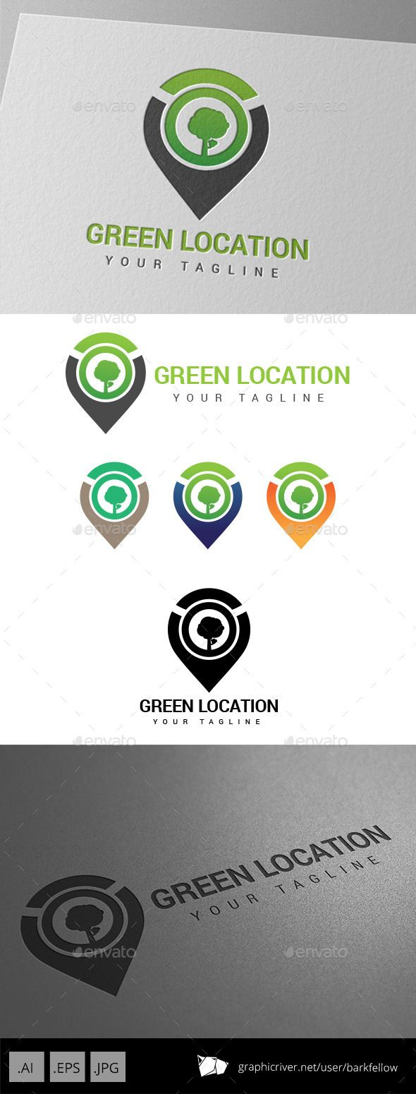 Green Eco Location - Logo Design Template Vector #logotype Download it here: http://graphicriver.net/item/green-eco-location-logo/9197037?s_rank=1690?ref=nesto