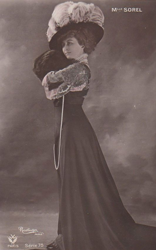 Céline Émilie Seurre, known as Cécile Sorel or the Comtesse de Ségur, by marriage (1873 - 1966) was a French comic actress. She enjoyed great popularity and was known for her extravagant costumes. (From Wikipedia). | eBay!