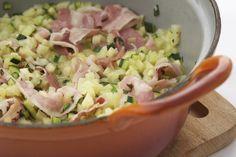Recept aardappelrisotto met courgette en spek