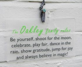Family rules wall plaque.  Always believe in magic! - Another Gorgeous Day