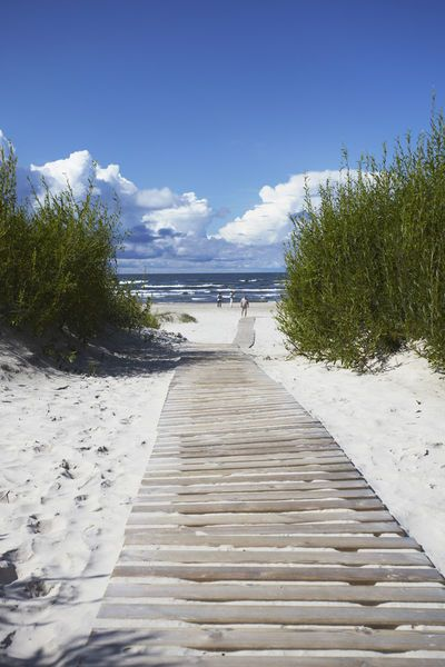 Liepaja, Latvia. That's where my mother was born, 1925. She picked chunks of amber from the sand. Beautiful!