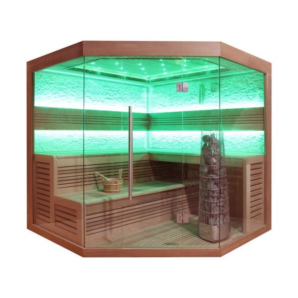 EO-SPA Sauna E1242A rote Zeder 220x220 9kW Kivi