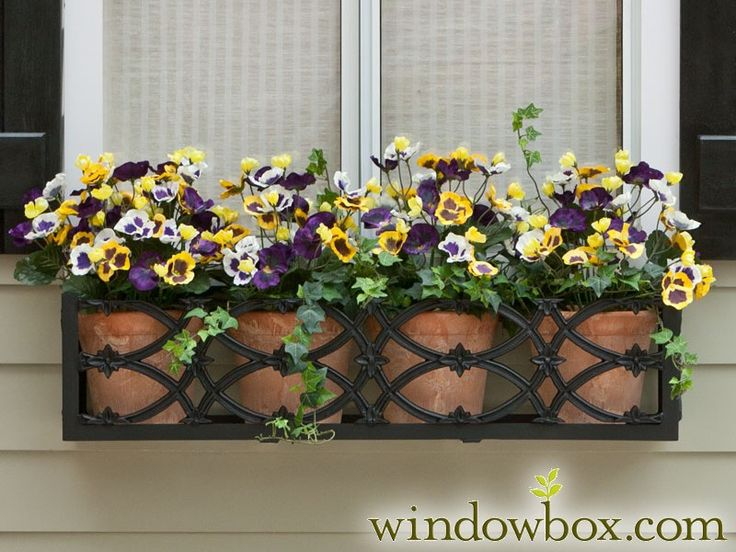 The Baton Rouge Window Box features a handsome design that will add a simple beauty to any style home. It is hand-made from lightweight, powder-coated aluminum that will never rust, peel or fade. Use it to hold individual pots or one of our galvanized steel liners. These beautiful metal window boxes are easy to install on brick, wood, lap siding or stucco. Aluminum beam runs along the back and features three holes through which screws can be drilled. Bolts for installation and Liners SOLD…