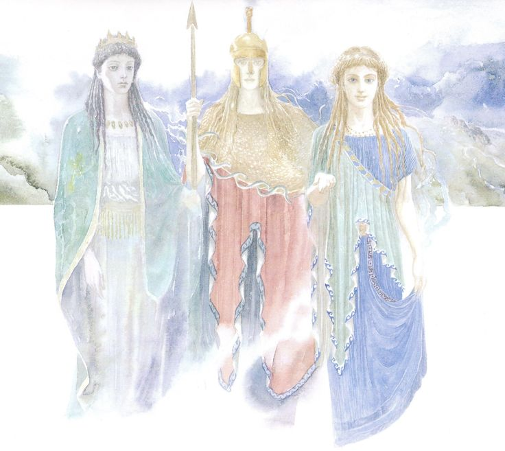 Hera, Athena & Aphrodite ask for The Judgment of Paris by Alan Lee (Trojan War/Golden Apple/user: Aethon)
