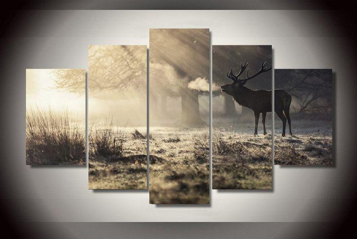 Winter Deer 5 Piece Canvas Print – TC Discount Store