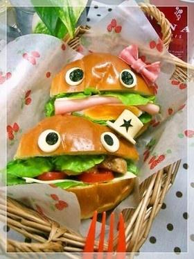 A couple of hamburger