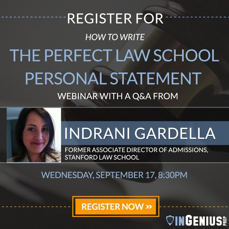 9 best Sign up for our Webinars! images on Pinterest College - best of 9 sample personal statement for law school