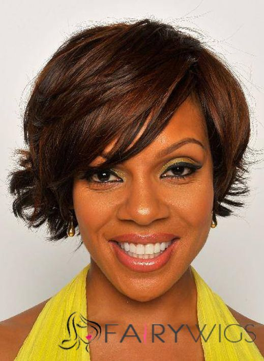 78 best rihannas hair style images on pinterest african new style short wavy brown african american wigs for women pmusecretfo Gallery