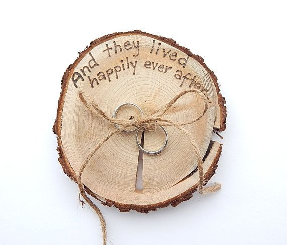 RUSTIC ring bearer pillow  Romantic country by KnottyNotions, $20.00
