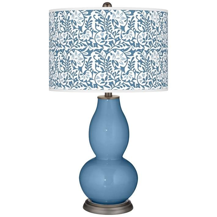 Secure Blue Gardenia Double Gourd Table Lamp 53t56 Lamps Plus Lamp Table Lamp Table Lamp Shades