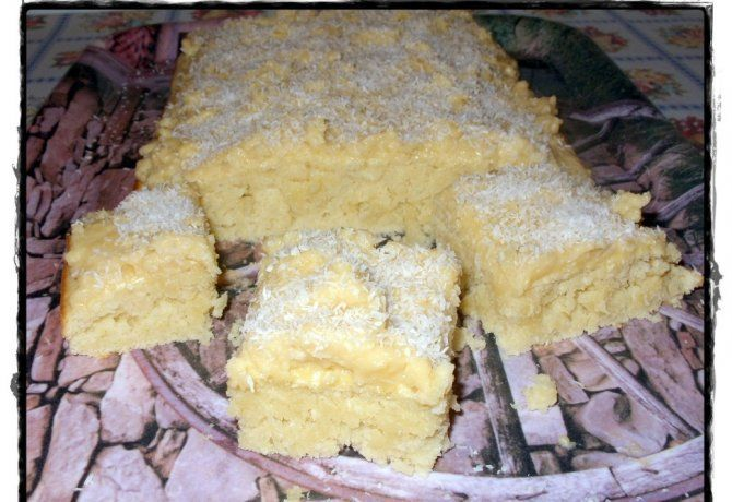Kókuszos kevert vaníliapudinggal