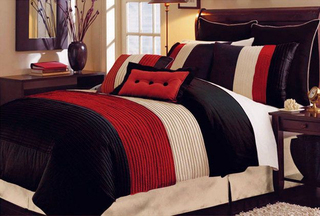 Red Beds, Red And Black Bedding And Red Bedding