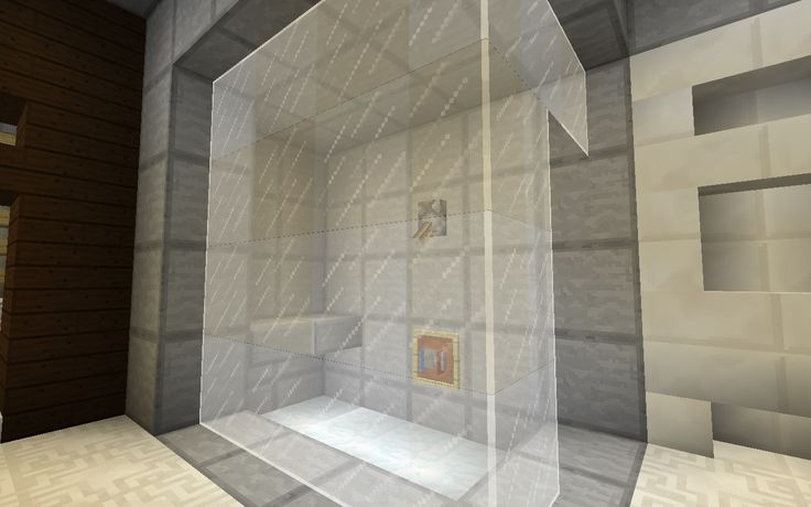 Minecraft Furniture - Bathroom - Frosted Glass Shower