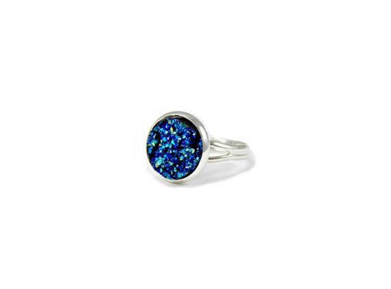 Statement Druzy Ring Druzy Jewelry Faux by RoseAndRabbitDesigns