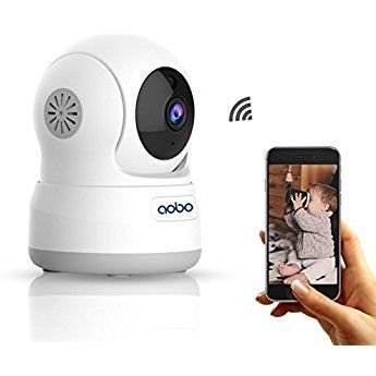 WiFi Camera AOBO 720P Wireless IP Security Camera for Home Pan Tilt Indoor Nanny Cam Dog Pet cams Two Way Audio with Night Vision Room Webcam Surveillance Cameras System #homesurveillancecameras