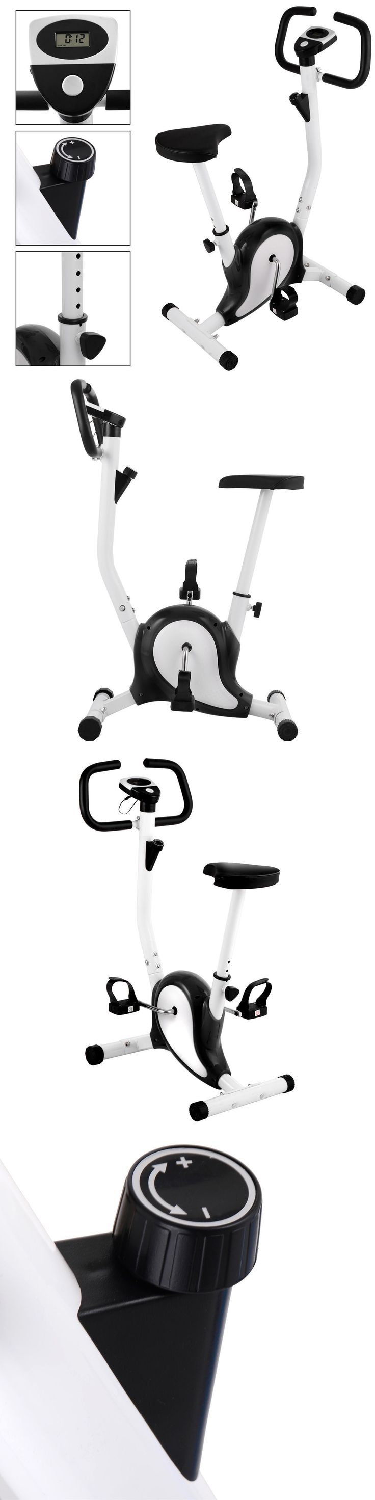 Exercise Bikes 58102: Upright Exercise Bike Magnetic Resistance Cardio Workout Stationary Cycle Black -> BUY IT NOW ONLY: $47.99 on eBay!