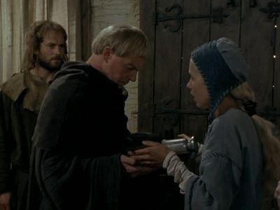 Meurig (Huw Garmon),  Cadfael and Aldith (Sophie Lawrence) in Monk´s Hood