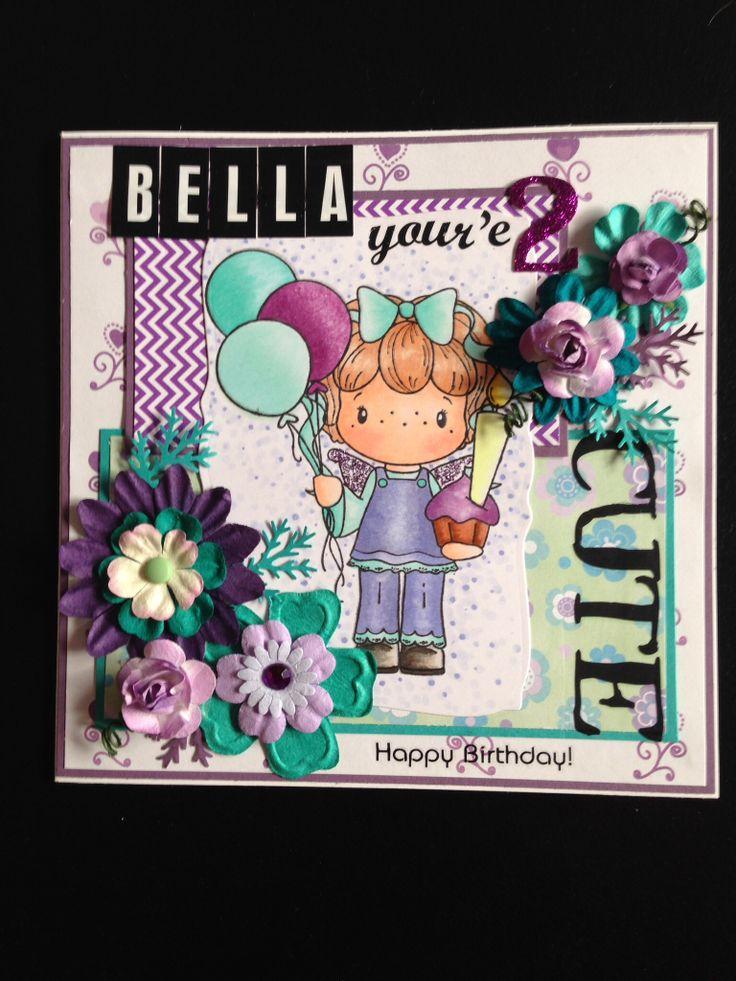 CC designs 2 year old girl birthday card