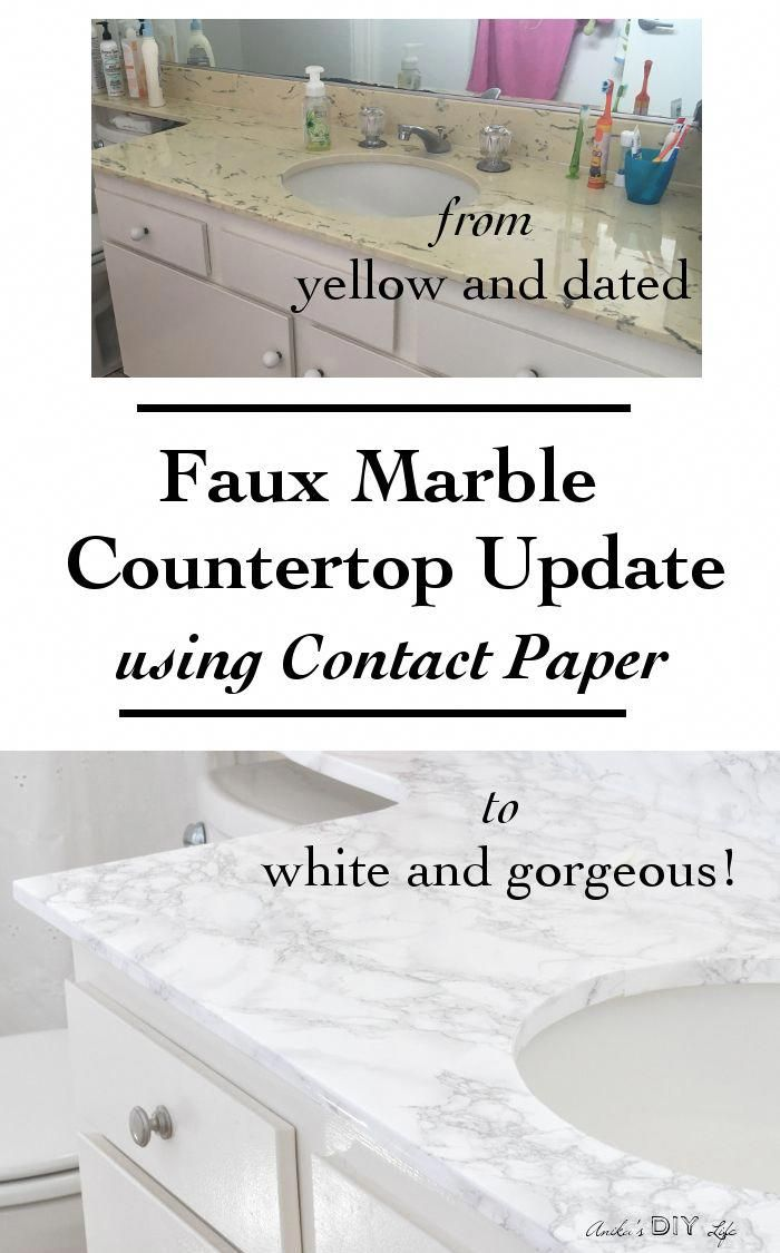 You will not believe how easy it is to update old countertops just