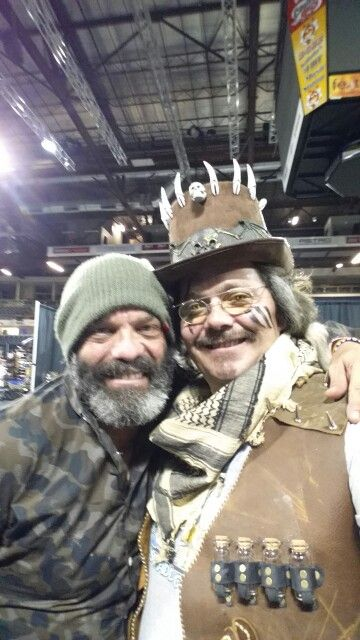 Myself and Lee Arenberg from Pirates of the Caribbean and Once Upon a Time and many other shows at the Lethbridge Comic Expo