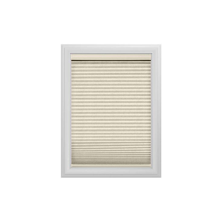 "Cordless Light Filtering Cellular Shade Slotted Window Blind Alabaster 36""x48"" - Bali Essentials, Beige"