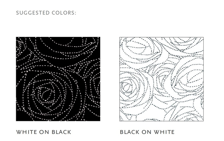 rosetum series #design by Bartoli Design, SHAPE AND DIMENSION available in 4 different shapes, rosetum 200x300 cm,  rosetum round, rosetum 300x300 cm, rosetum bouquet, SUGGESTED COLORS: white on black, black on white. http://nodusrug.it/it/collezione_tappeti_scheda.php?ID=RUTR