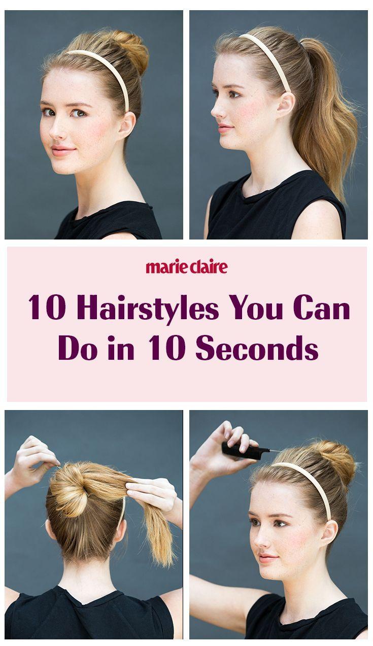 10 coiffures à faire en 10 secondes - # coiffures #secondes - #nouveau