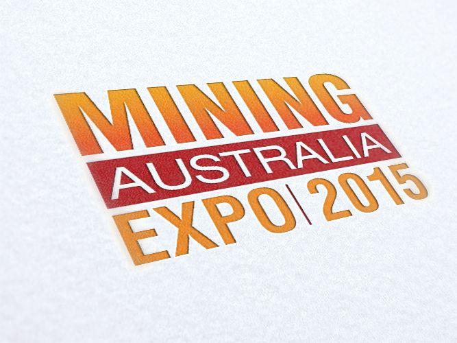 Swan Exhibitions Mining Australia Expo Logo Design