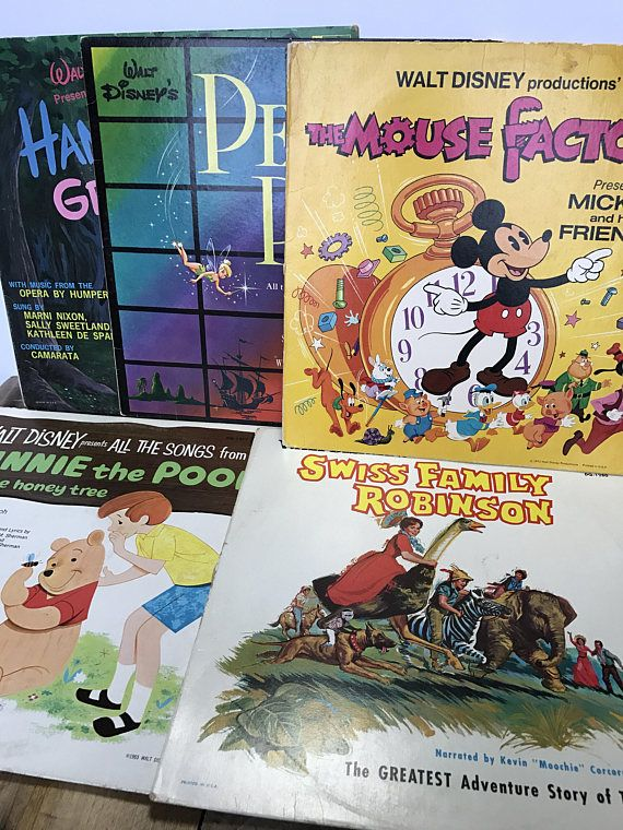 """You would have to go two stars to the right and straight on to morning to find a more groovy Peter Pan record. Featuring the original soundtrack, relive the Disney classic on vinyl from the 1960s. This record was originally packaged with crayons so that the plastic-coated drawings on the back cover could be personalized - how sweet! The listing features Walt Disney's PETER PAN, All the Songs from the Original Motion Picture Soundtrack. Disneyland Records DQ-1206.  Songs: """"The Second Star to…"""