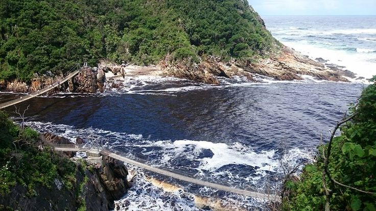 """Tsitsikamma is a khoi word meaning """"place of abundant or sparkling water"""". The region stretches from the Bloukrans River in the west to Eerste Rivier in the east, is bordered on the north by the imposing Tsitsikamma mountains and in the south by the Indian Ocean."""