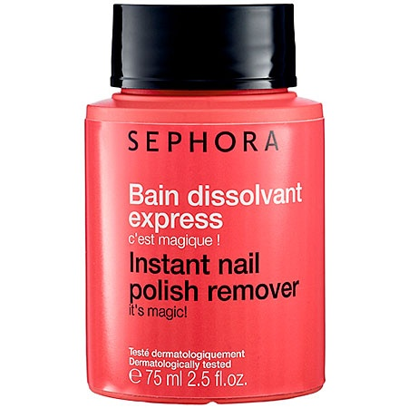 A must have!     Shephora instant nail polish remover. It's magic!