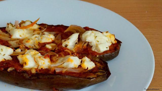 Eggplants with feta cheese