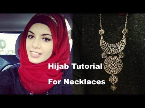 ▶ Hijab Tutorial for Necklaces - YouTube