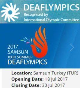 Πενταμελής αποστολή της εθνικής ομάδας Ταεκβοντό στους 23ους Θερινούς Ολυμπιακούς Αγώνες (Deaflympics) στην Τουρκία