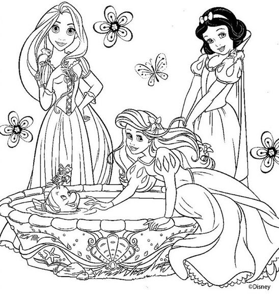 dibujos de princesas para pintar