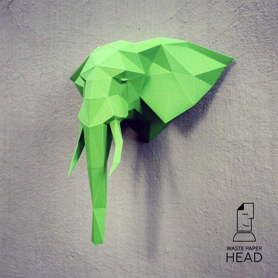 Mit dieser Vorlage können Sie ein Papier Kopf Elefant im Alleingang machen!  Vorlage zum ausdrucken (PDF) enthält 13 Seiten. Verwenden Sie farbige Papier aus einem Papier Gewicht zwischen 160-240 g/m2. Maße: Höhe-Kopf-50 cm (A4) oder 70 cm (A3). Ich empfehle Druck auf A3-Format. Wenn Sie eine andere Größe benötigen, die Format und Druckmaßstab nach eigenem Ermessen zu ändern.  Sehen Sie unsere Videos auf youtube.com/channel/UCTO0rWB3sQv161fWv0yG79Q. Mehr Fotos auf…