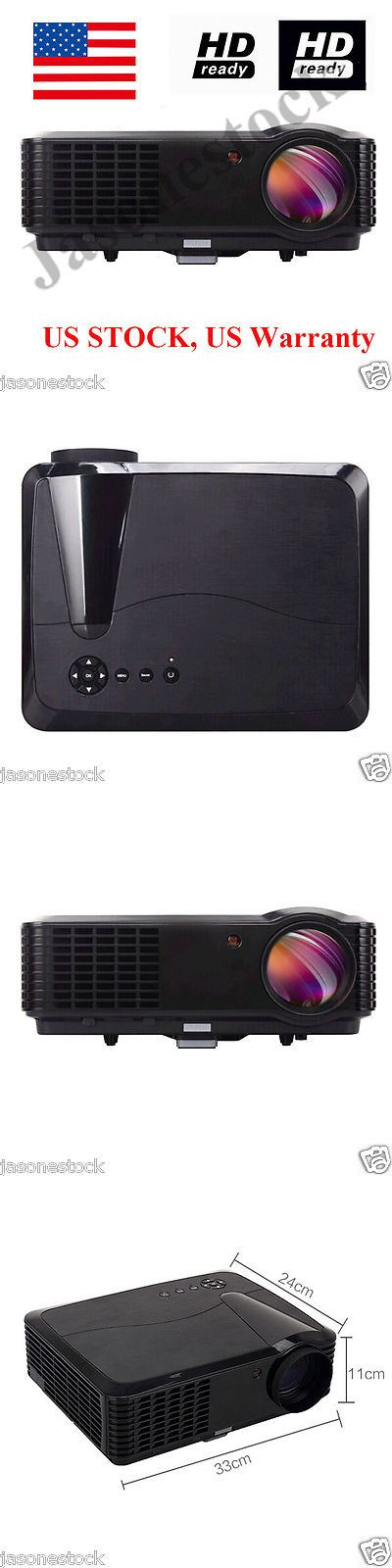 Home Theater Projectors: 4500 Lumens 1080P Home Theater Hd Tv Pc Dvd 3D 7000:1 Contrast Lcd Led Projector BUY IT NOW ONLY: $399.99